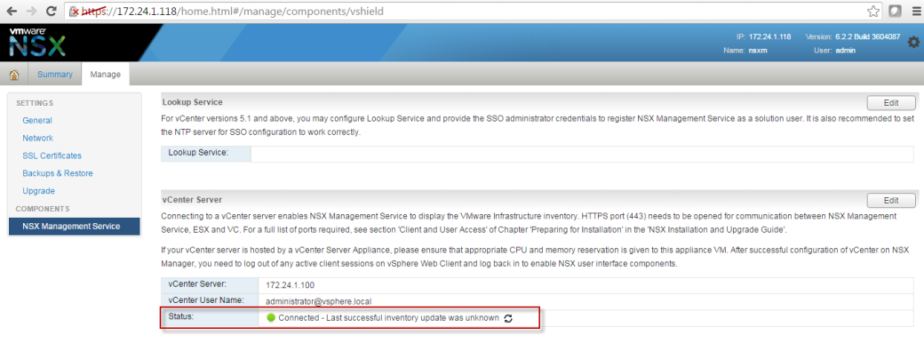 VMware NSX Installation and Configuration Part 3 –NSX